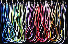 necklace cords with clasp images 52 colour options rayon silk cord necklace sterling silver end jpg