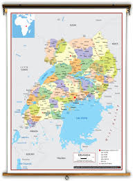 Map Of Uganda Uganda Political Educational Wall Map From Academia Maps