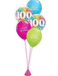 birthday balloon arrangements 100th birthday balloon bouquet party fever