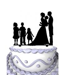 family cake toppers meijiafei family hold the bady with 3 children wedding cake