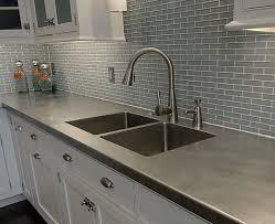 Kitchen Countertops Laminate by Gray Laminate Countertop And Affordable Countertop Metal