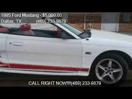 mustang for sale in dallas 1995 ford mustang gt 2dr convertible for sale in dallas tx