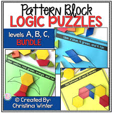 mrs winter u0027s bliss pattern block logic puzzles