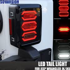 Jeep Tj Led Tail Lights Usa Eu Edition Reverser Brake Turn Signal Led Rear Tail Light For