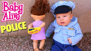 Baby Halloween Costumes Baby Police Cute Baby Sends Baby Alive Dolls Bars