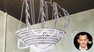 pirate ship light fixture johnny depp leaves behind pirate ship chandelier after selling l a