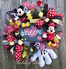 mickey mouse wreath welcome disney wreath disney wreath
