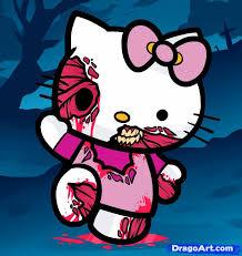 draw zombie kitty zombie kitty step step