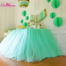 aliexpress com buy 2pcs tulle tutu table skirt wedding table