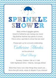 Gift Card Shower Invitation Wording Blue Baby Sprinkle Shower Invitation Blue By Happyheartprinting