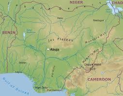 nigeria physical map blatey nigeria geography of nigeria
