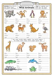 graceful wild animal best blog french wild animals worksheet