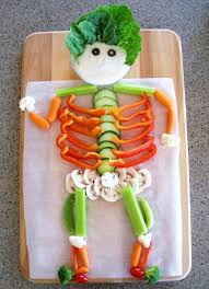 halloween halloweenveggieskeleton halloweenner ideas for party