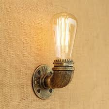 Wall Sconces Bronze 3 39 Inches Wide Pipe Design Minimalist Wall Sconces In Aged