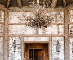 inspired wagon wheel chandelier rustic living room