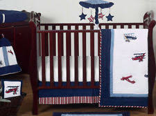Vintage Aviator Crib Bedding White And Blue Vintage Aviator Airplane Baby Bedding 11pc Crib