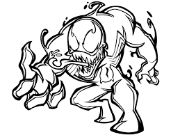 venom coloring page free printable venom coloring pages for kids