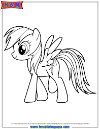 rainbow dash pony cartoon coloring aj