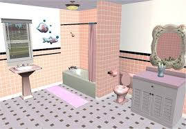 Pictures Suitable For Bathroom Walls Mod The Sims Retro Tiled Walls U2013 Pink Bathrooms Forever