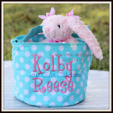 monogrammed bunny monogrammed easter baskets personalized easter baskets bentley