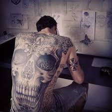 gorgeous skull s back tattoomagz