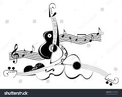 vector collage string musical instruments music stock vector