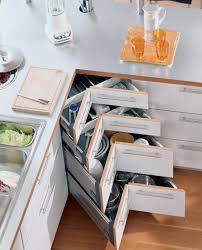 rangement pour meuble de cuisine meuble d angle cuisine moderne et rangements rotatifs en 35 photos
