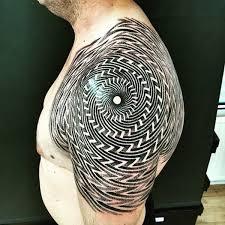 59 stunning geometric shoulder tattoos