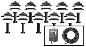 landscape lighting led kits with low voltage outdoor the home