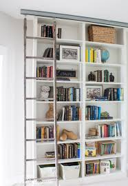 Rolling Ladder Bookcase Billy Bookcase Hack With Library Ladder The Lilypad Cottage