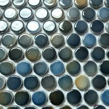 x penny round mosaic  mosaic tile  by rachels mosaics with x penny round mosaic deepblue mosaictile from houzzcom