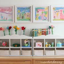 mondocherry whitewash child u0027s room storage colorful prints and pop