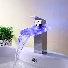 Led Bathroom Faucet by Lightinthebox Temperature Sensitive Single Handle Centerset Led