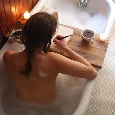 Women Bathtub Tub Caddy Reclaimed Wood Bath Tray