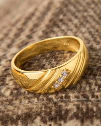 gold rings for men buy sterling silver gold plated men s ring with cz online india voylla