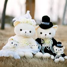 car wedding cake toppers 40cm teddy cake topper and groom wedding cake
