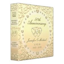 50th wedding anniversary photo album 50th wedding anniversary album custom binders zazzle