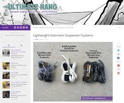 lightweight hammock suspension systems the ultimate hang
