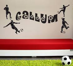 wall art stickers shenra com personalised football wall stickers
