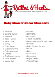 fabulous baby shower decorations checklist printable rattles