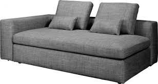 canapé sans accoudoir cyrus canapés canapé 3 places convertible blanc noir tissu habitat