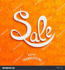 thanksgiving day sale design template stock vector 323725373