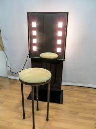Make Up Mirrors With Lighted Bedroom Simple Black Makeup Vanity Table With Lighted Mirror And