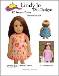 18 inch doll clothes patterns dress dresses for american doll