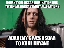 Kobe Rape Meme - bad luck james franco imgflip