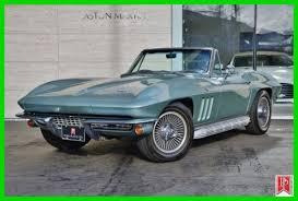 66 corvette stingray 1966 corvette stingray convertible 4 speed mosport green