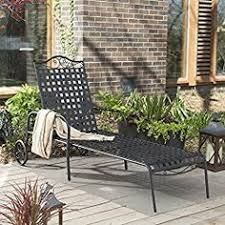 Wrought Iron Lounge Chair Patio Hton Bay Posada Patio Chaise Lounge With Gray Cushion 153 120