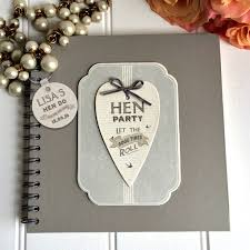 photo album guest book personalised hen party guest book and keepsake album by the