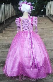 rapunzel princess dress kids girls party dress halloween xmas
