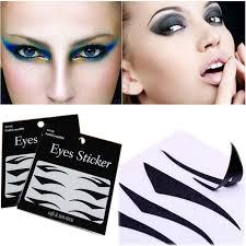 2 sets black sticker eyeliner temporary eyeshadow